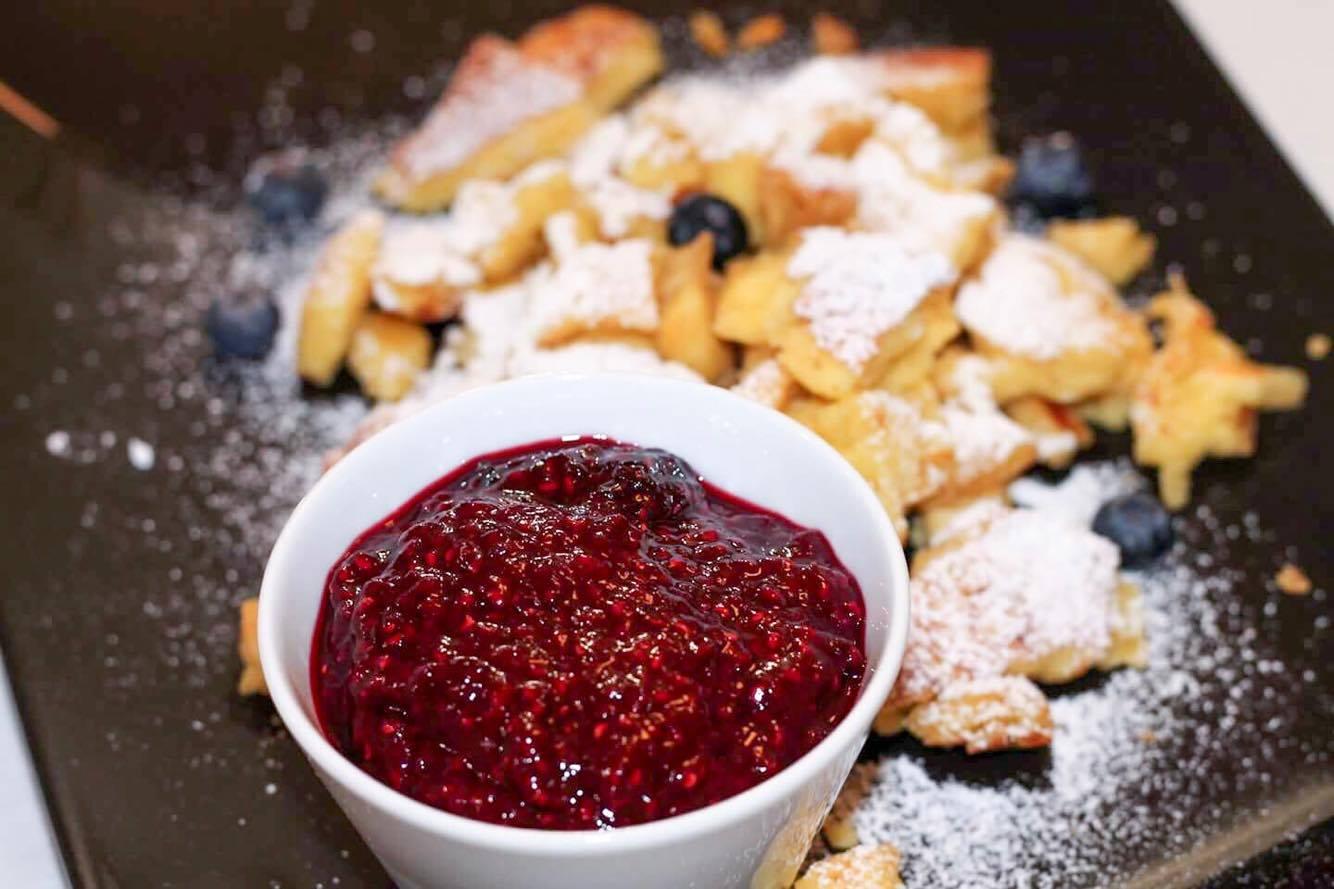 7geschmackswelten kaiserschmarrn österreich nachspeise heiße himbeeren dessert kardiaserena foodblogparade