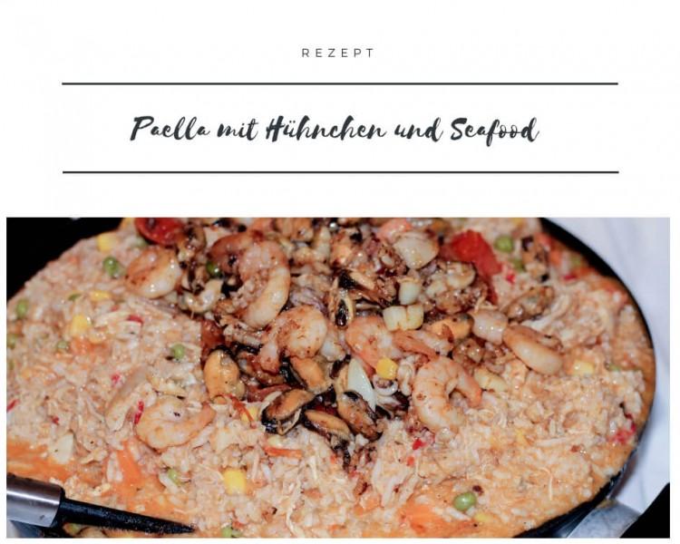 rezept Paella mit Hühnchen und Seafood & Creme Catalana kardiaserena