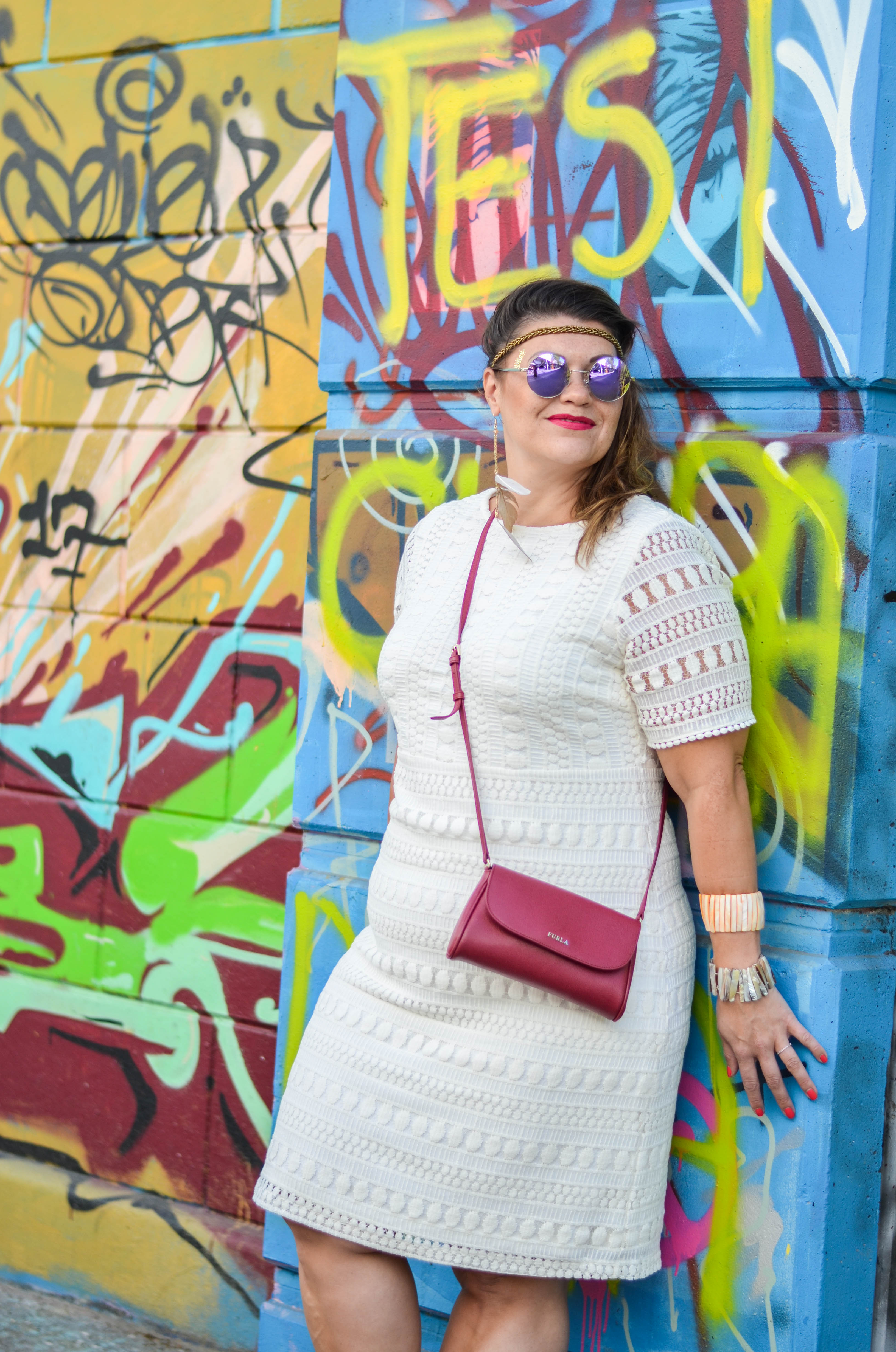 hippie style grandios boutique boho spitzenkleid lace plussize fashion furla bag kardiaserena