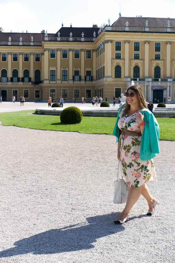 business look grandios vienna blumenkleid flowerdress mint blazer plussize fashion kardiaserena