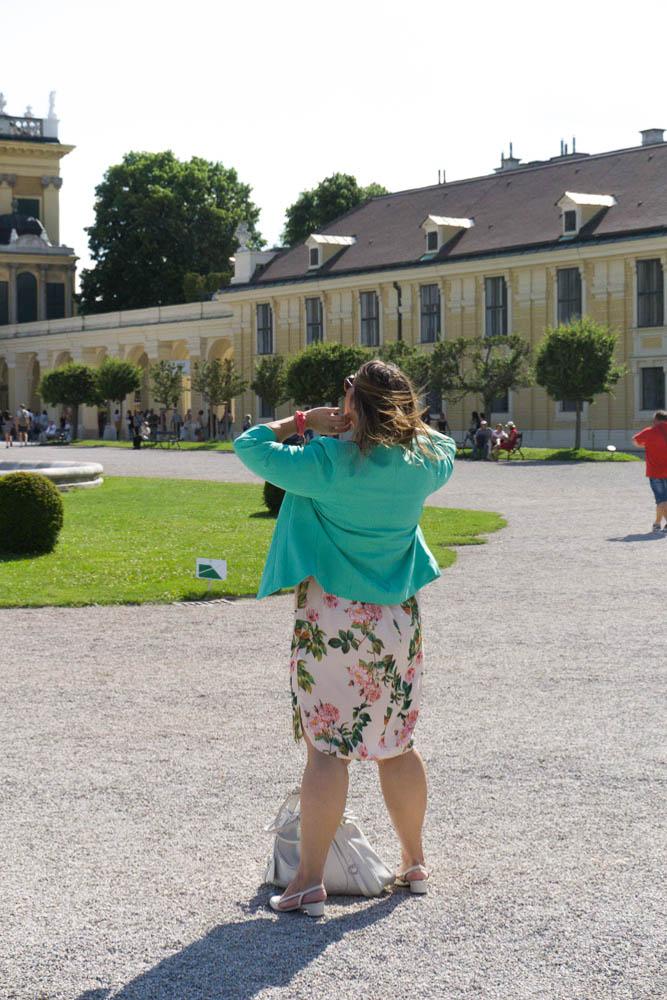 business look grandios vienna blumenkleid flowerdress mint blazer plussize fashion kardiaserena summer
