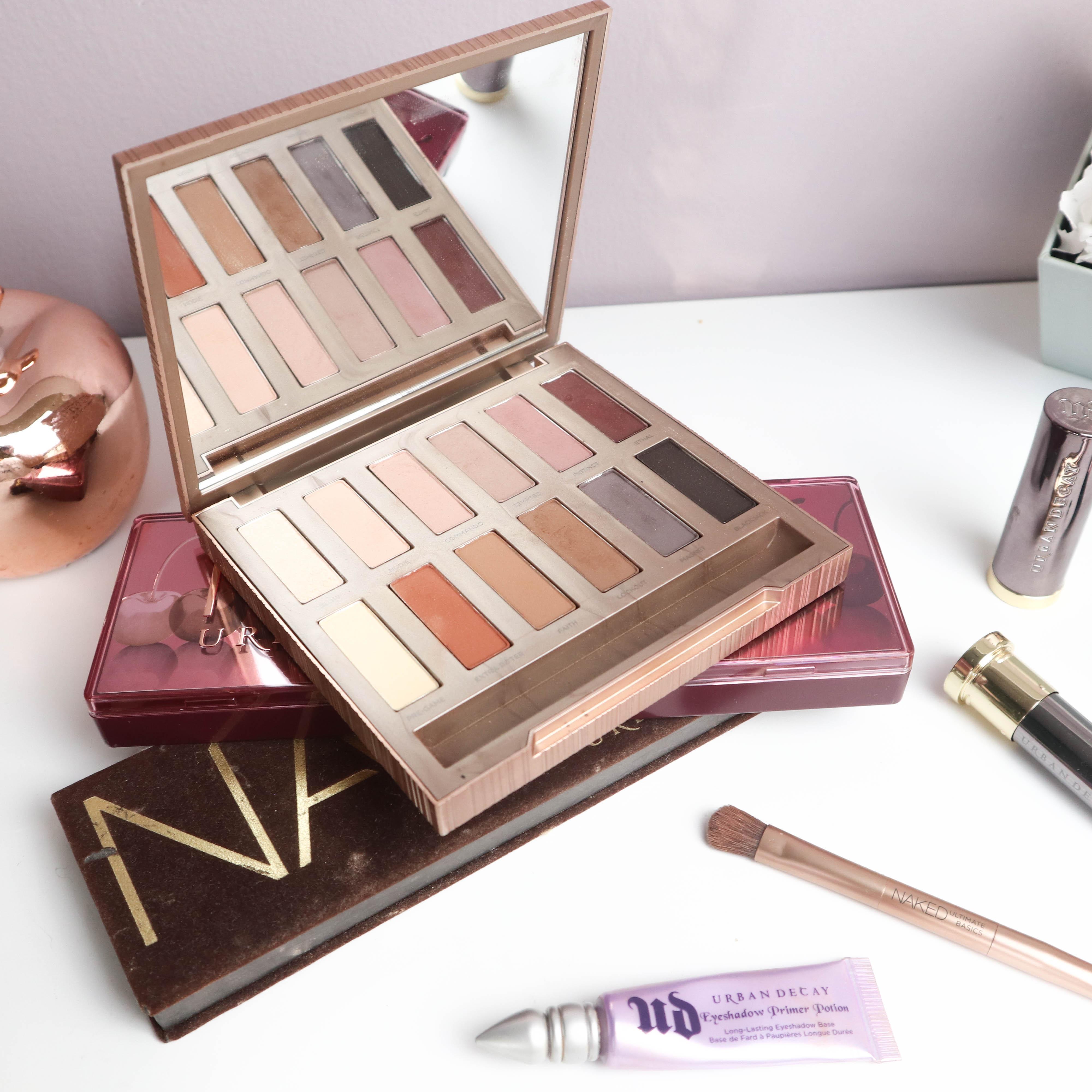 top 5 beauty brands lieblings beauty marken kardiaserena urban deca naked eye shadow palette Naked 1 all nighter fixing spray cherry ultimate basics