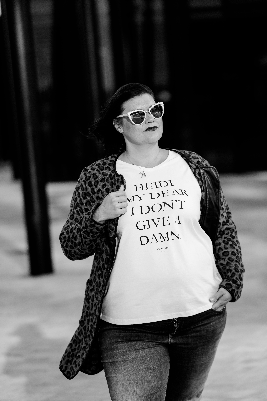 Signature Kollektion Statement T-Shirts Heidi my dear I don't give a damn Grandios Boutique kardiaserena