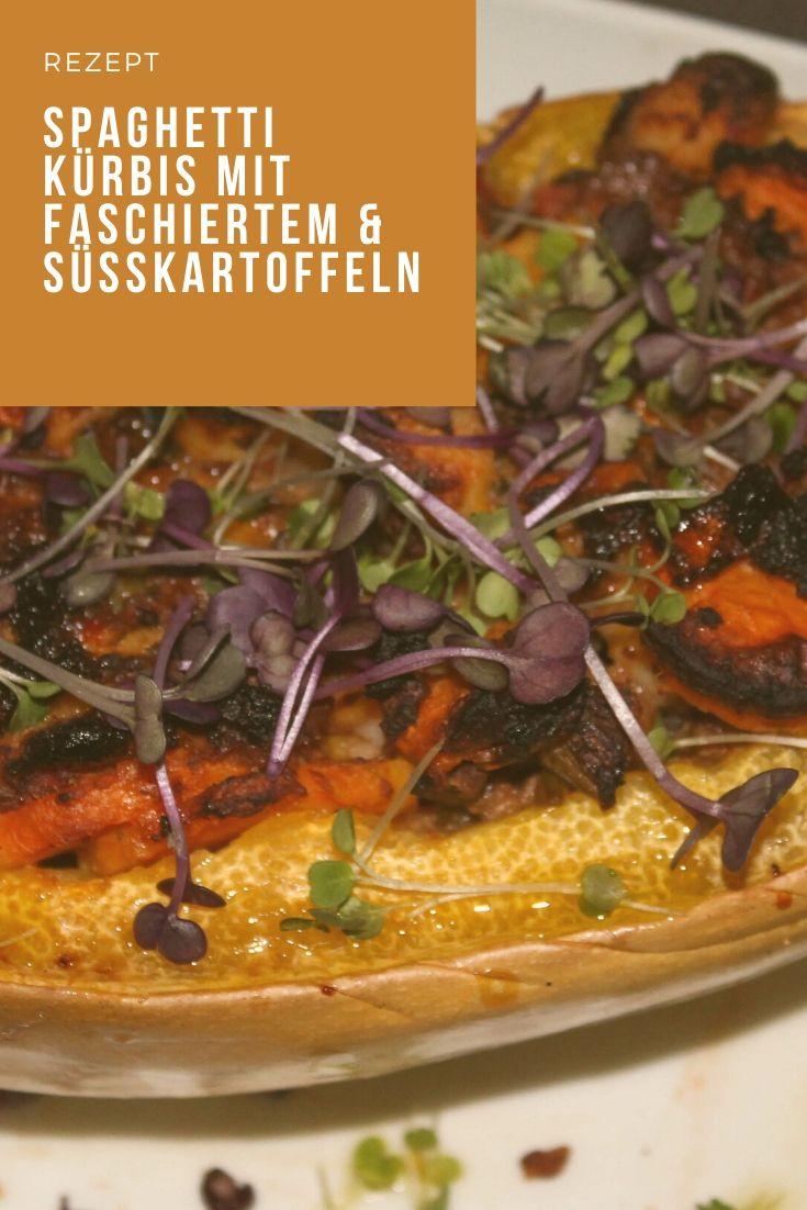 Rezept spaghetti kürbis mit faschiertem & süsskartoffeln kardiaserena pumpkin recipe