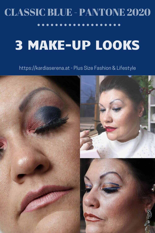 classic blue pantone 2020 farbe color 3 eye make-up looks beauty augen makeup lidschatten kardiaserena drama queen too faced ciaté london urban decay tamara mascara lashes inspiration pinterest